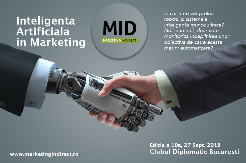 Eveniment în București despre inteligență artificială și marketing (MID ediția 10)